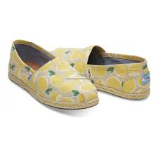 TOMS CLASSIC YELLOW LEMON ROPE SOLE