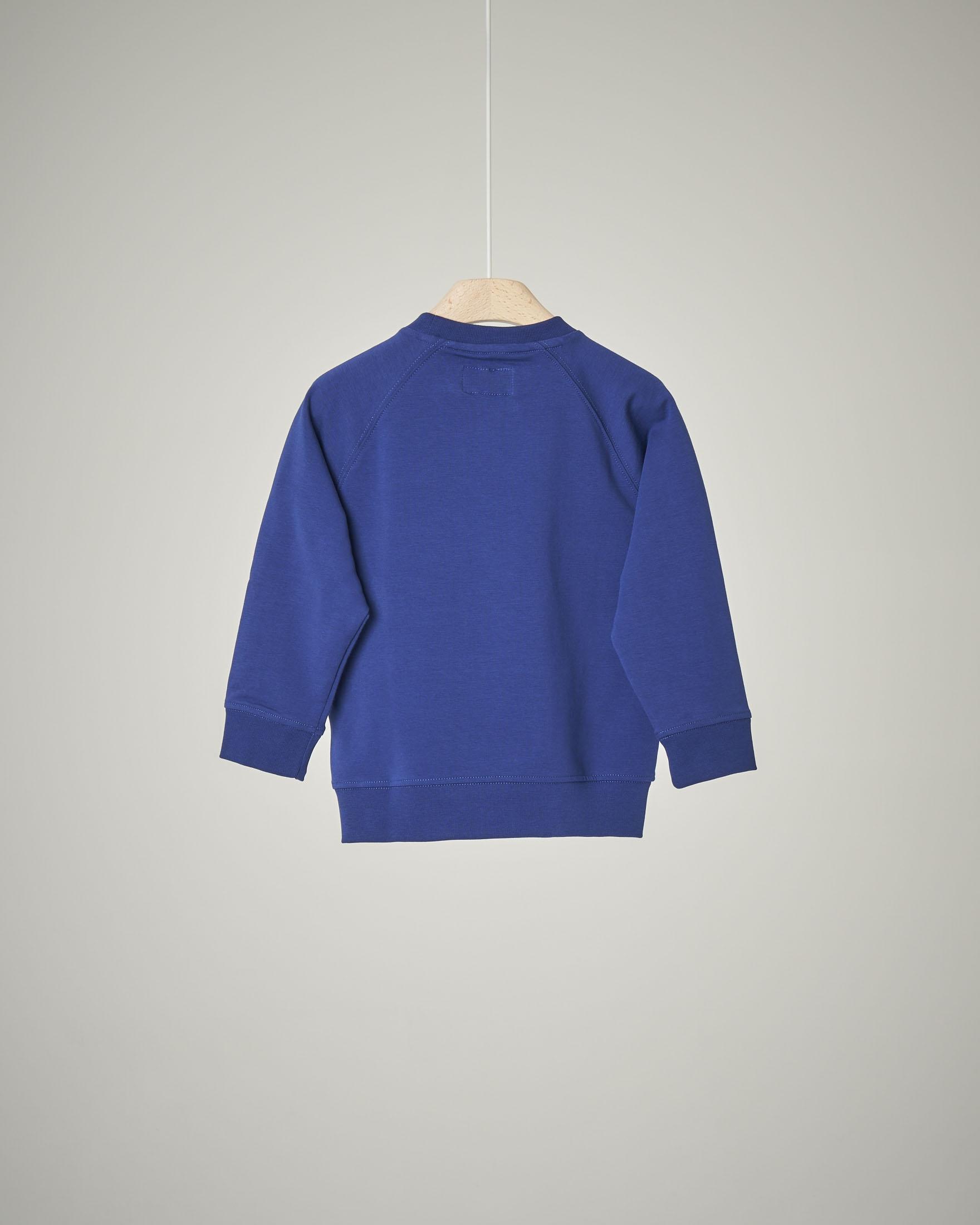 Felpa bluette logo rilievo 4-8 anni