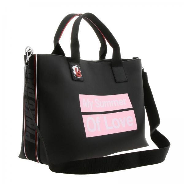 Shopping In Con On Maxi Borsa Tessuto Line Varieta Gommato Pinko Rj5q34LA