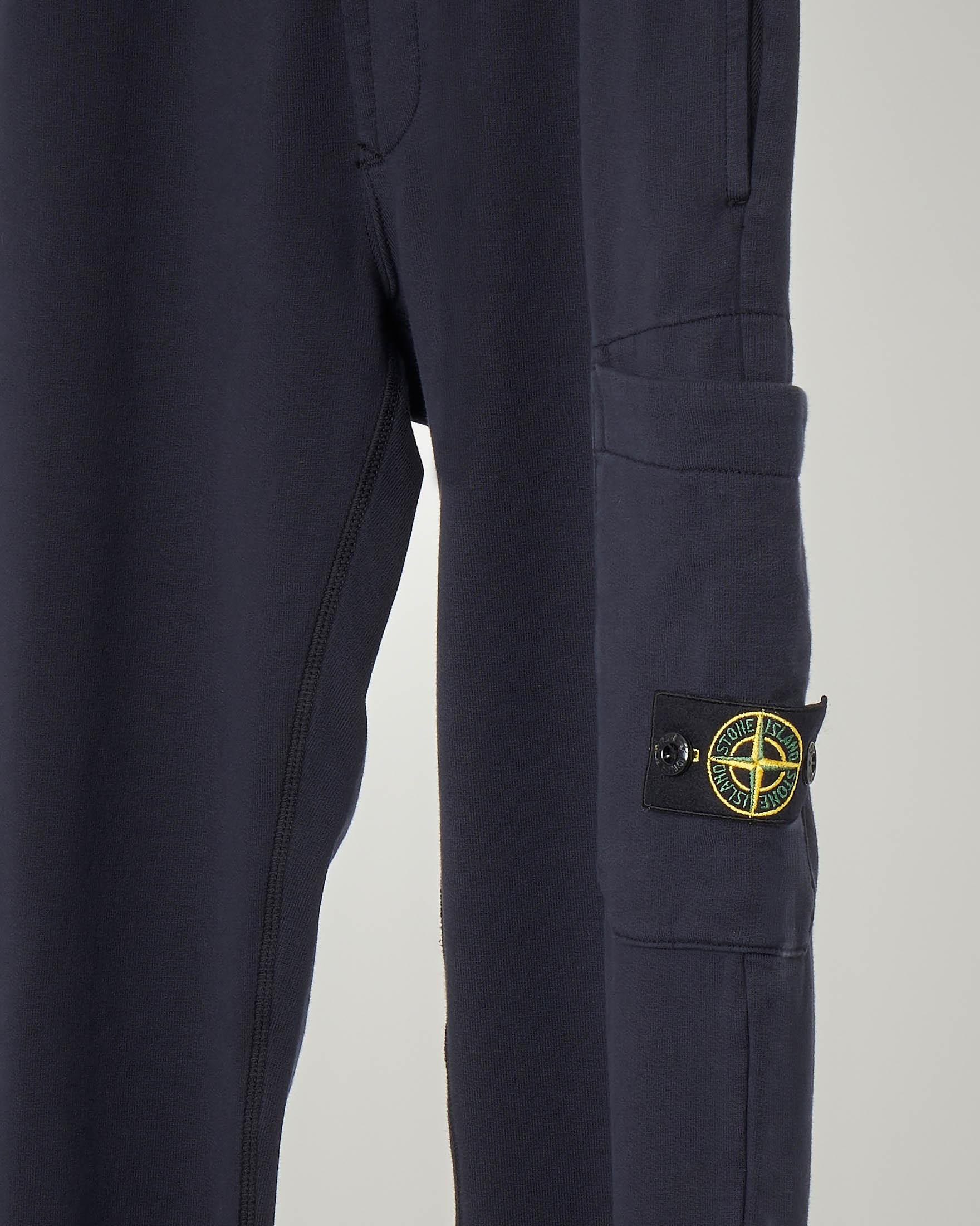 Pantalone blu in felpa con tascone 10-14 anni