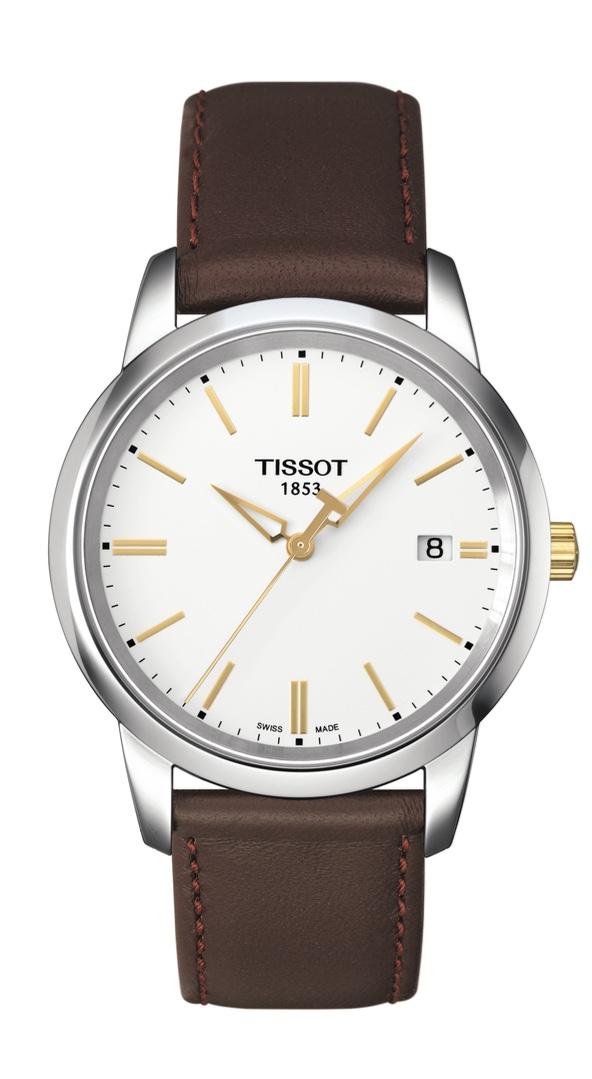 Orologio Tissot quarzo Classic Dream, cassa in acciaio e Cinturino in pelle Marrone T033.410.26.011.01