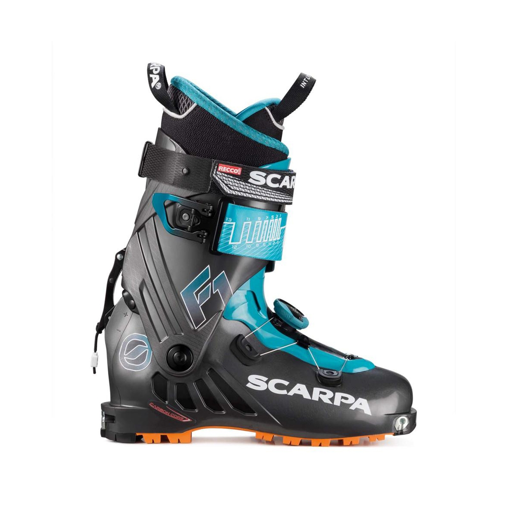F1   -   For all skiers who look for lightness   -   Anthracite-Pagoda Blue
