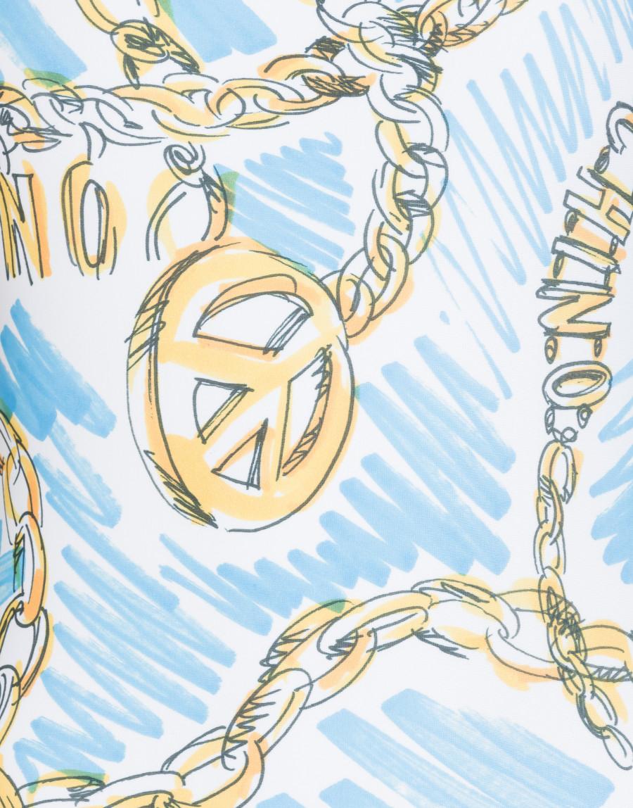 Costume intero con stampa Moschino Chain