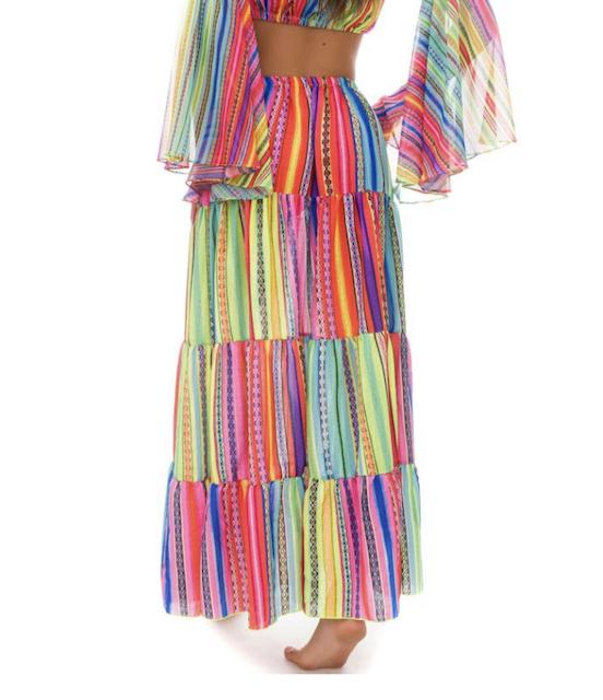 Gonna con balze Rainbow Changit