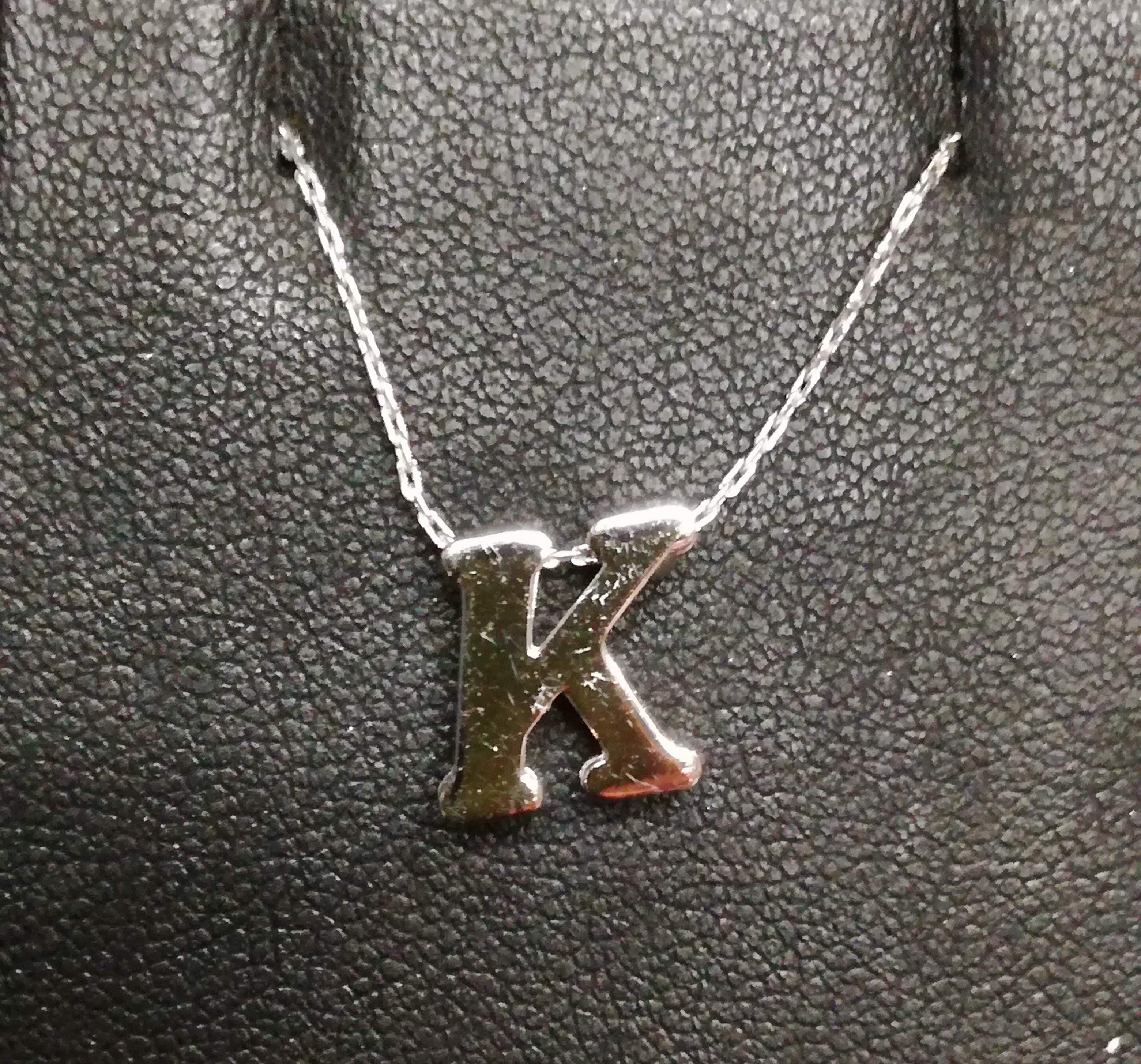 Girocollo argento iniziale K sconto 50%